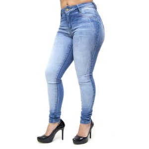 Calça Jeans Feminina Deerf Skinny Elieza Azul