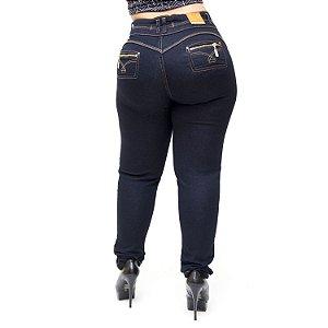 Calça Jeans Cheris Plus Size Skinny Maysa Azul
