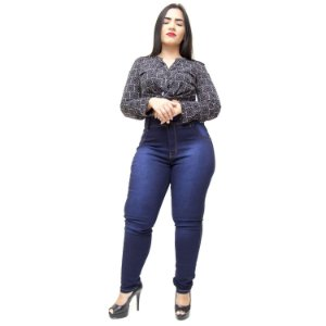Calça Jeans Wesen Plus Size Skinny Katyuche Azul