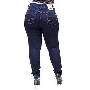Calça Jeans Deerf Plus Size Skinny Najla Azul