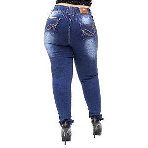 Calça Jeans Wesen Plus Size Skinny Mileny Azul