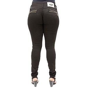 Calça Jeans Hevox Modelo Legging Levanta Bumbum Preta