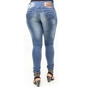 Calça Jeans Hevox Azul Modelo Legging Levanta Bumbum