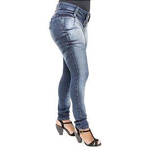 Calça Jeans Hevox Lavagem Escura Levanta Bumbum com Elastano