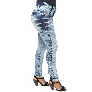 Calça Jeans 206OZ Levanta Bumbum com Lavagem Marmorizada