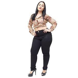 Calça Jeans Thomix Plus Size Skinny Euridice Preta