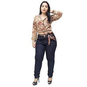 Calça Jeans Xtra Charmy Plus Size Skinny Tasila Azul