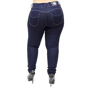 Calça Jeans Feminna Deerf Plus Size Skinny Sulema Azul