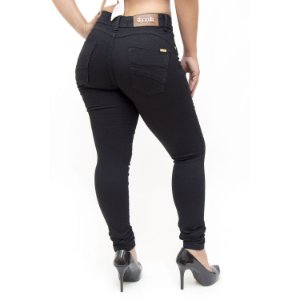 Calça Jeans Feminina Thomix Skinny Elvania Preta