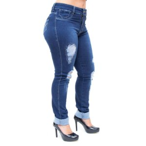 Calça Jeans Feminina Bokker Skinny Naionaria Azul