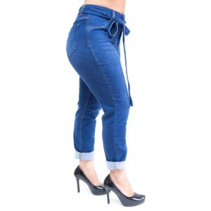 Calça Jeans Feminina Cambos Boyfriend Antonella Azul