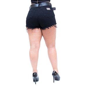 Shorts Jeans Feminino Palazzi Uelia Preto