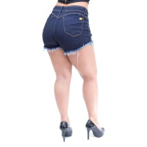 Shorts Jeans Feminino Palazzi Rasgadinho Chelyenne Azul