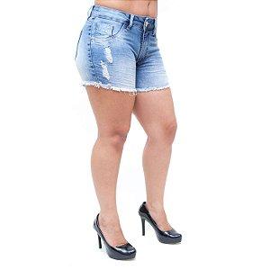 Shorts Jeans Feminino Bunny Francila Azul