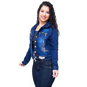 Jaqueta Jeans Feminina Credencial Caitiana Azul