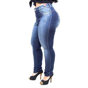 Calça Jeans Bokker Plus Size Skinny Belaide Azul