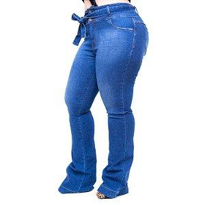 Calça Jeans Cambos Plus Size Flare Weslen Azul