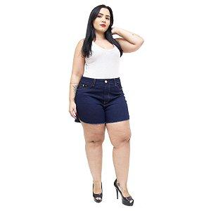 Shorts Jeans Feminino Cambos Plus Size Liara Azul