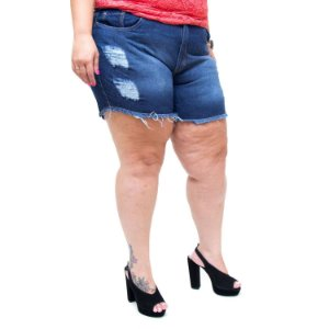 Shorts Jeans Feminino Bokker Plus Size Thabita Azul