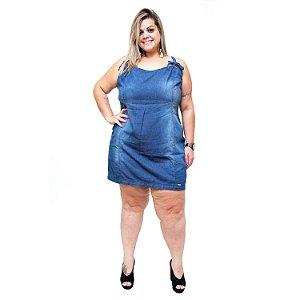 Vestido Jeans Feminino Brunfer Plus Size Sandreli Azul