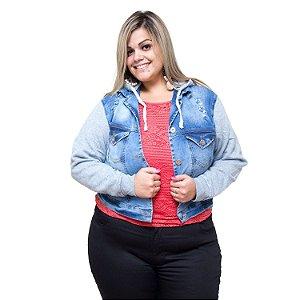 Jaqueta Jeans Feminina Credencial Plus Size Filene Azul
