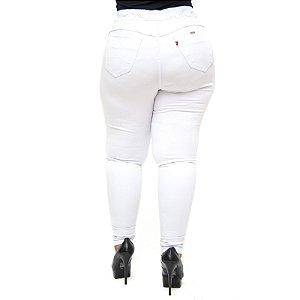 Calça Legging Cambos Plus Size Skinny Ingrite Branca