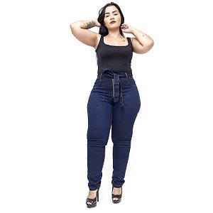 Calça Jeans Feminina Cambos Plus Size Skinny Aliciana Azul