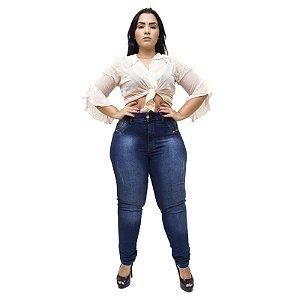 Calça Jeans Feminina Latitude Plus Size Verilaine Azul
