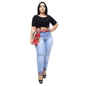 Calça Jeans Feminina Latitude Plus Size Marineusa Azul