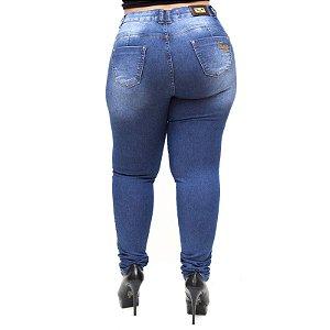 Calça Jeans Feminina Thomix Plus Size Ghislaine Azul