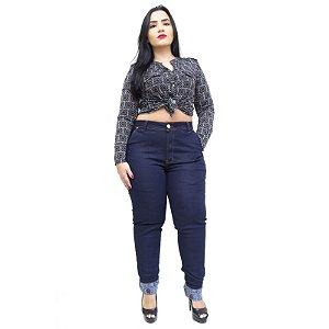 Calça Jeans Feminina Latitude Plus Size Skinny Aylla Azul