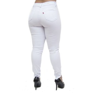 Calça Jeans Feminina Cambos Skinny Greicy Branca