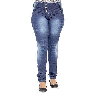 Calça Jeans Legging Feminina Helix Escura Levanta Bumbum