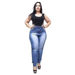 Calça Jeans Feminina Meitrix Plus Size Skinny Noraia Azul