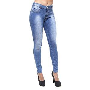 Calça Jeans Feminina Credencial Skinny Ideleide Azul