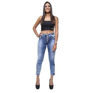 Calça Jeans Feminina Cheris Skinny Miriene Azul