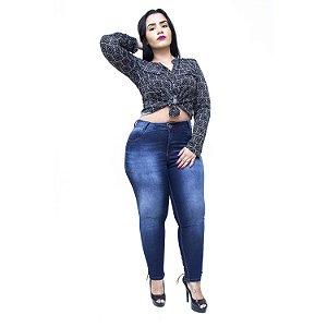 Calça Jeans Credencial Plus Size Cigarrete Mayellen Azul