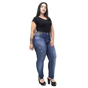 Calça Jeans Xtra Charmy Plus Size Skinny Eda Azul