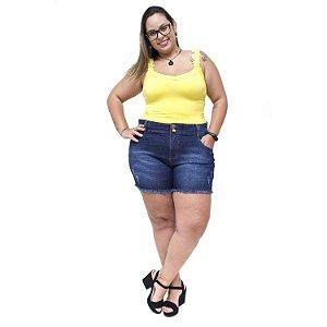 Shorts Jeans Feminino Xtra Charmy Plus Size Ednir Azul