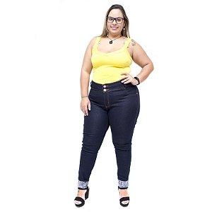 Calça Jeans Feminina Credencial Plus Size Skinny Cleuda Azul