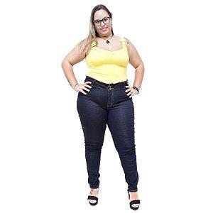 Calça Jeans Feminina Credencial Plus Size Skinny Kalize Azul