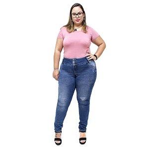 Calça Jeans Credencial Plus Size Skinny Micicleide Azul