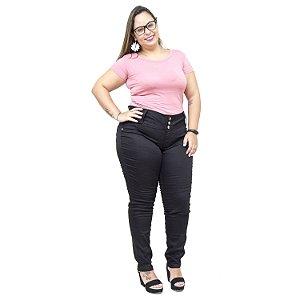 Calça Jeans Feminina Credencial Plus Size Skinny Susa Preta