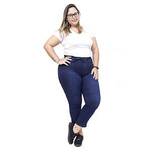 Calça Jeans Feminina Meitrix Plus Size Cropped Jizelia Azul