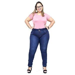 Calça Jeans Feminina MC2 Plus Size Skinny Hemely Azul