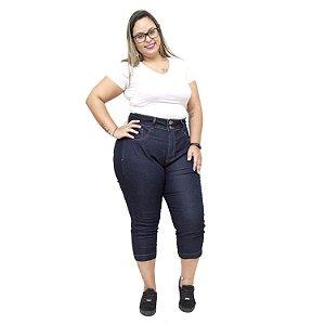 Calça Jeans Xtra Charmy Plus Size Cropped Silsa Azul