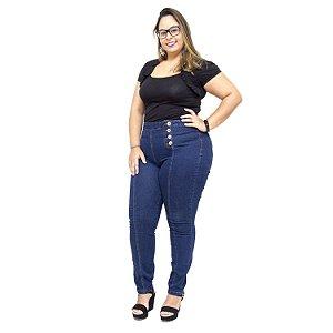 Calça Jeans Feminina Cambos Plus Size Skinny Nagilla Azul