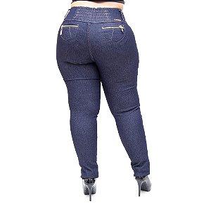 Calça Jeans Helix Plus Size Skinny Crislei Azul