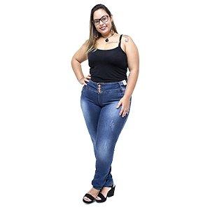 Calça Jeans Credencial Plus Size Skinny Ramires Azul