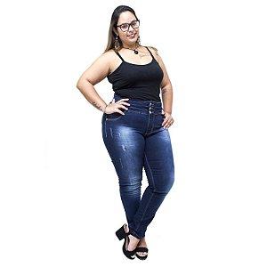 Calça Jeans Credencial Plus Size Skinny Laurete Azul